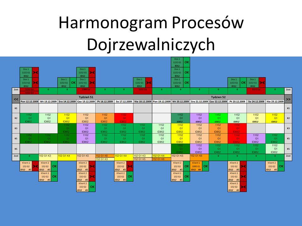 Harmonogram Procesów Dojrzewalniczych