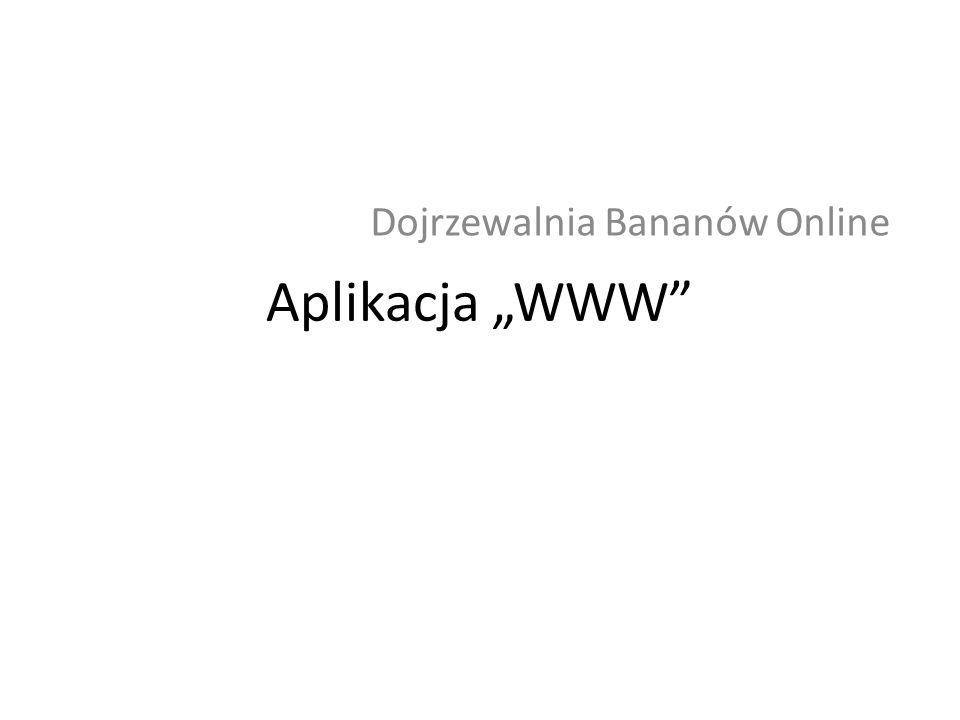 Aplikacja WWW Dojrzewalnia Bananów Online