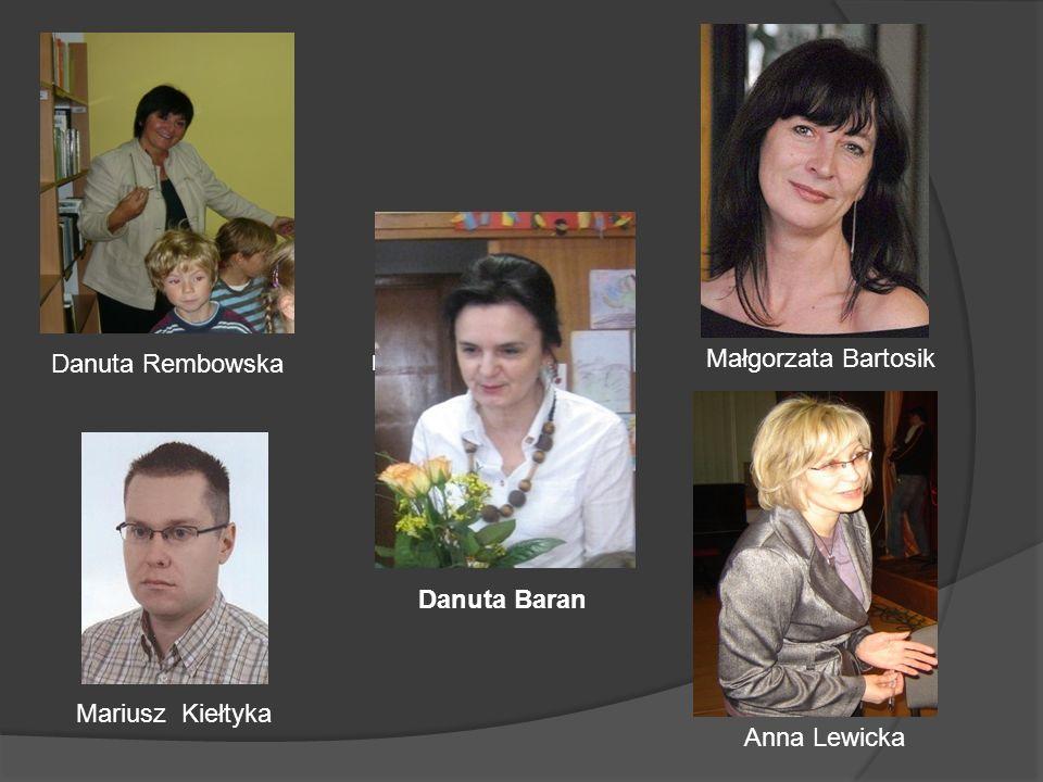 Danuta Rembowska Anna Lewicka Mariusz Kiełtyka Danuta Baran Danuta Rembowska Małgorzata Bartosik