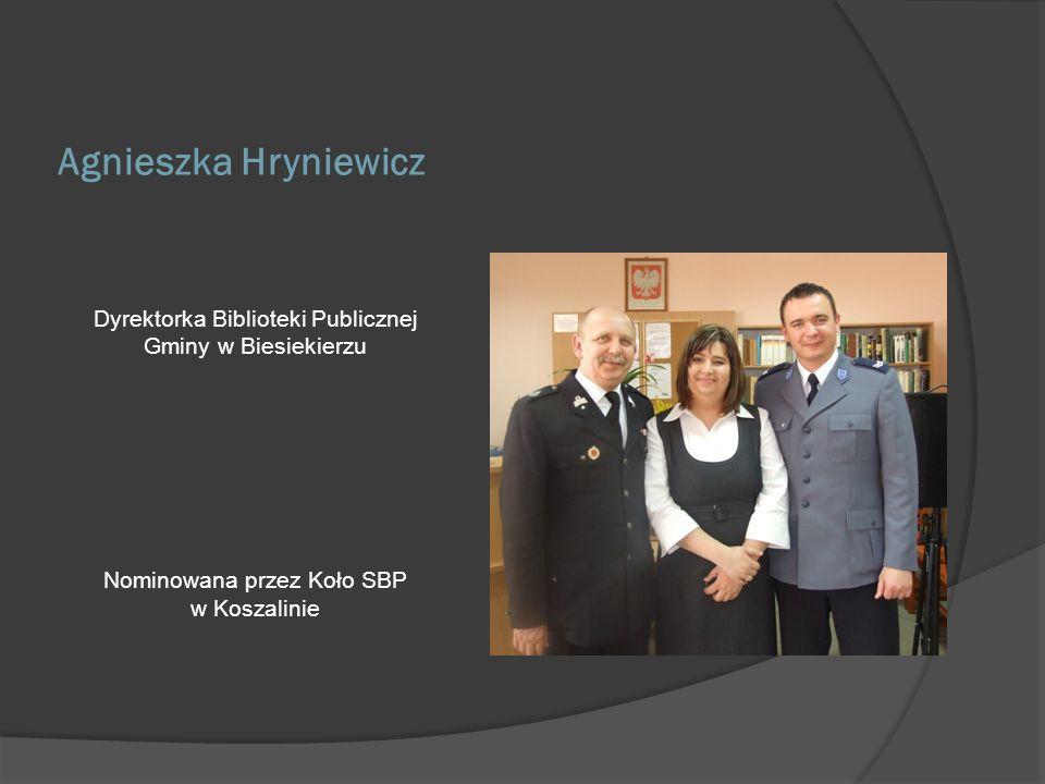 Bożena Pilczuk Kustosz, pracownik Czytelni Młodzieżowej w Książnicy Pomorskiej w Szczecinie Nominowana przez Koło nr 1 SBP przy Książnicy Pomorskiej