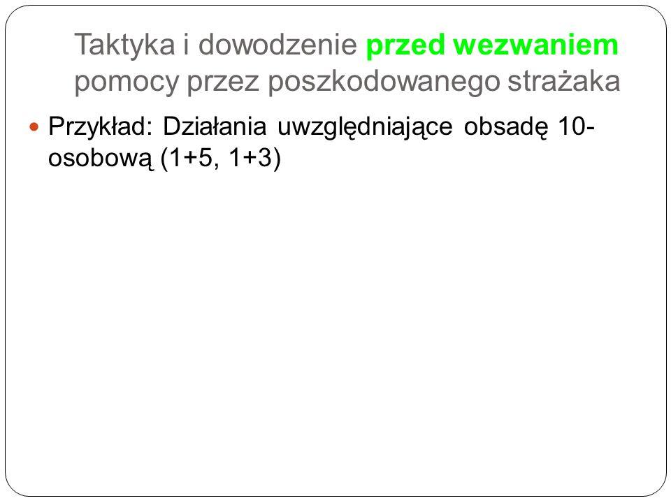 Przykład: Działania uwzględniające obsadę 10- osobową (1+5, 1+3)