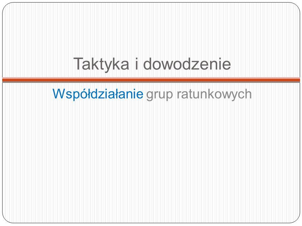 Taktyka i dowodzenie Współdziałanie grup ratunkowych