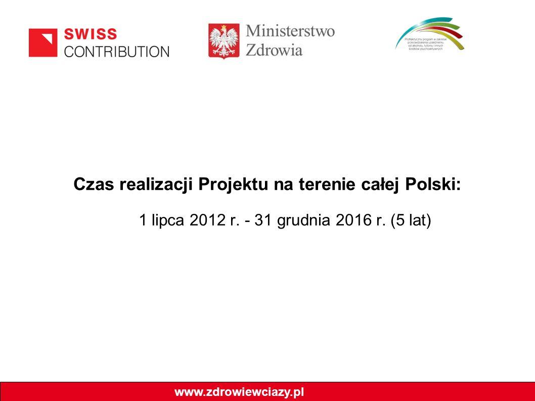 Czas realizacji Projektu na terenie całej Polski: 1 lipca 2012 r. - 31 grudnia 2016 r. (5 lat) www.zdrowiewciazy.pl