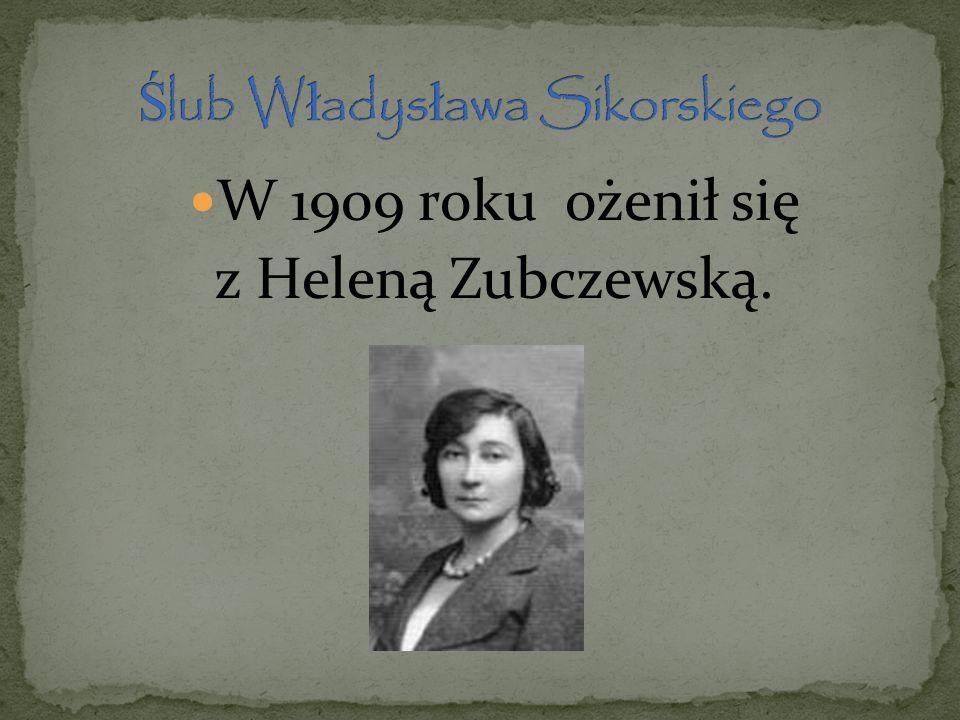 W 1909 roku ożenił się z Heleną Zubczewską.