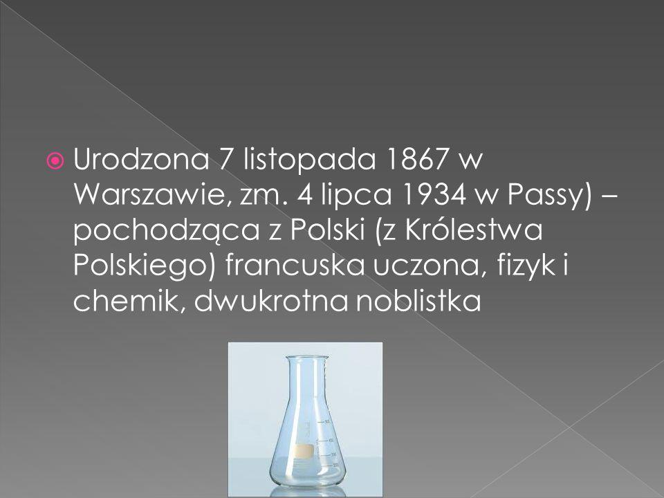 Urodzona 7 listopada 1867 w Warszawie, zm.