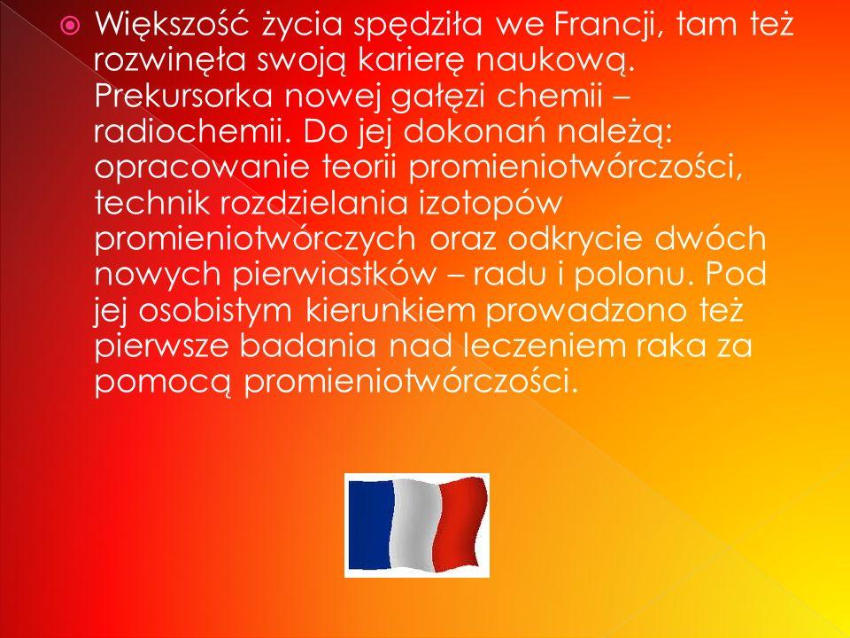 Urodzona 7 listopada 1867 w Warszawie, zm. 4 lipca 1934 w Passy) – pochodząca z Polski (z Królestwa Polskiego) francuska uczona, fizyk i chemik, dwukr