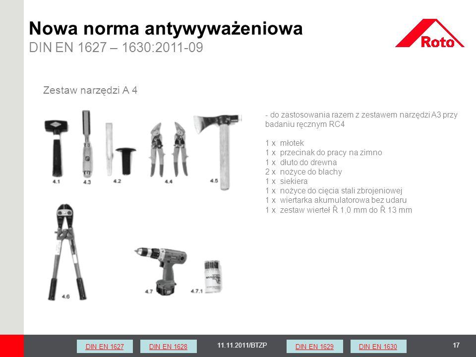1711.11.2011/BTZP Zestaw narzędzi A 4 - do zastosowania razem z zestawem narzędzi A3 przy badaniu ręcznym RC4 1 x młotek 1 x przecinak do pracy na zim