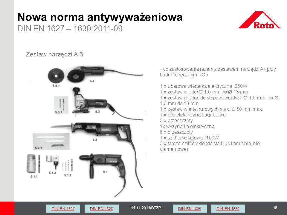 1811.11.2011/BTZP Zestaw narzędzi A 5 - do zastosowania razem z zestawem narzędzi A4 przy badaniu ręcznym RC5 1 x udarowa wiertarka elektryczna 650W 1