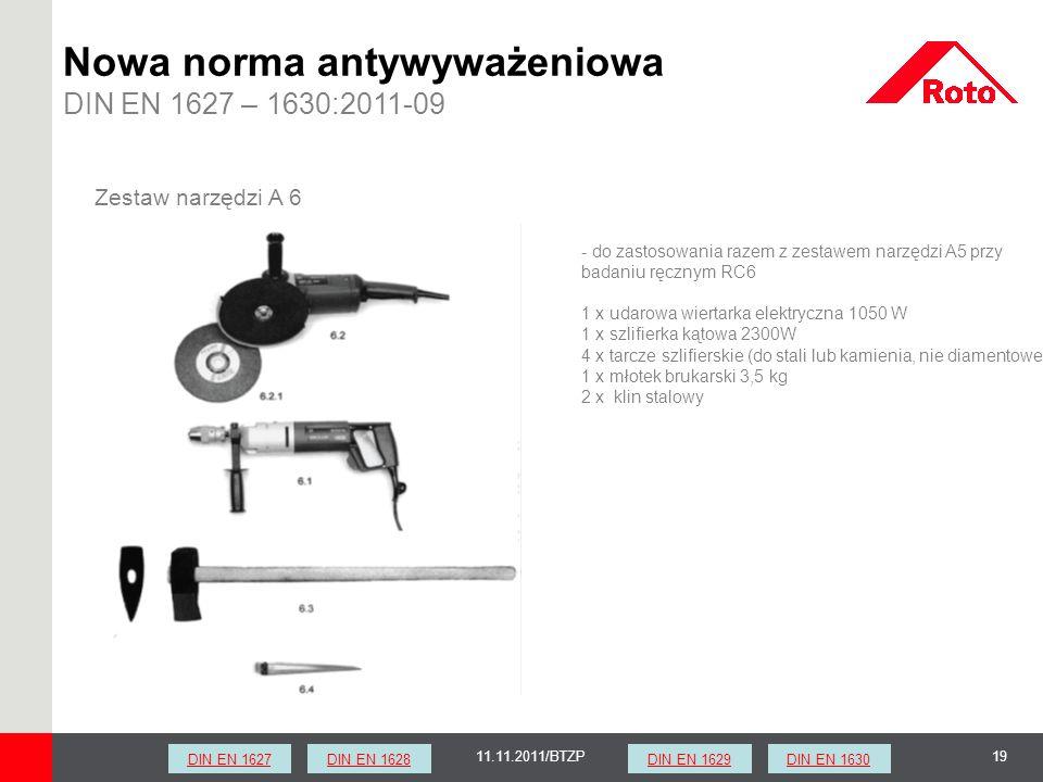 1911.11.2011/BTZP Zestaw narzędzi A 6 - do zastosowania razem z zestawem narzędzi A5 przy badaniu ręcznym RC6 1 x udarowa wiertarka elektryczna 1050 W