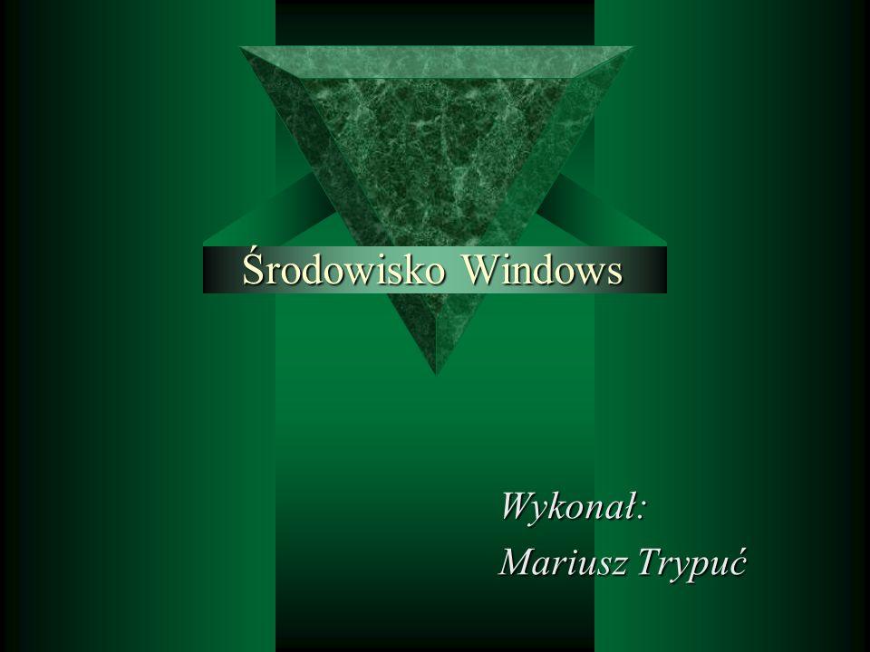Środowisko Windows Wykonał: Mariusz Trypuć
