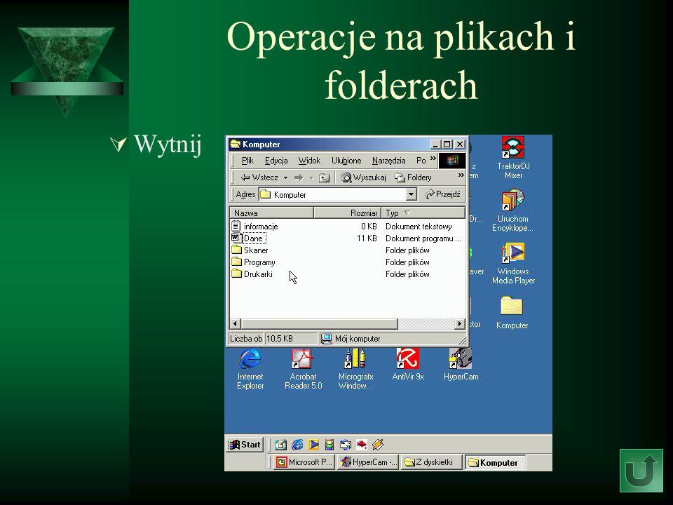 Operacje na plikach i folderach Wytnij