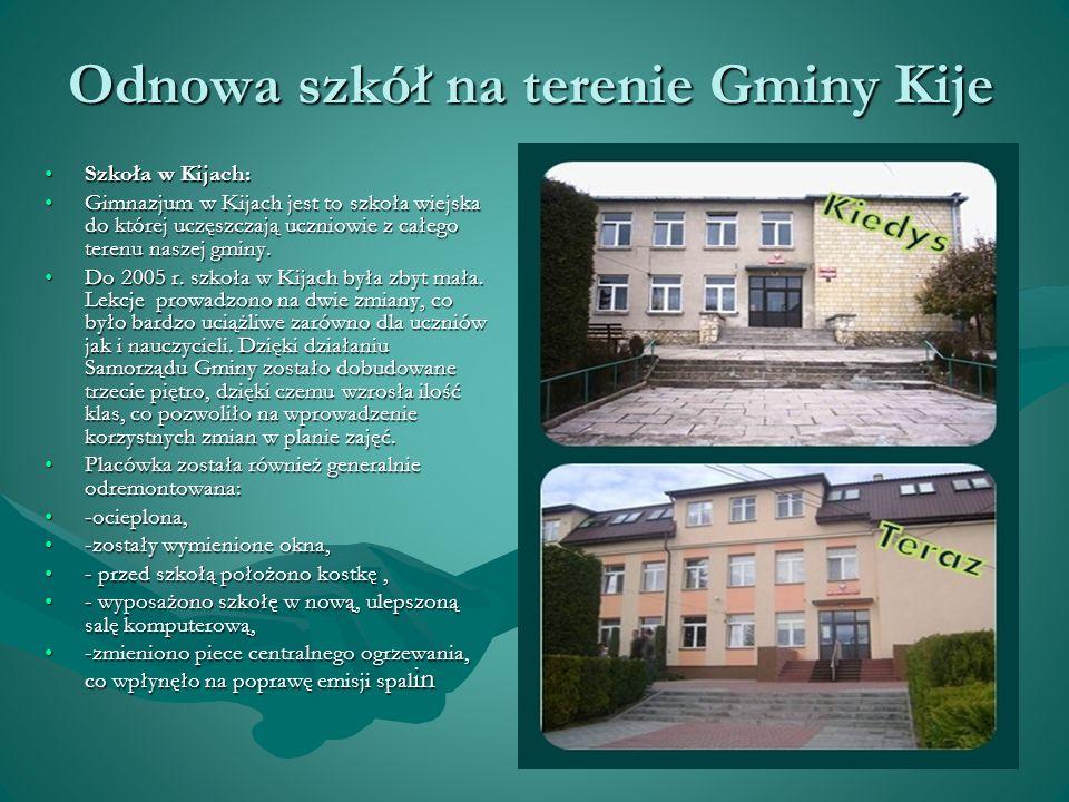 Szkoły Filialne na terenie Gminy Kije Do Zespołu Placówek Oświaty w Kijach należą także dwie Szkoły Filialne: w Gartatowicach, we Włoszczowicach.