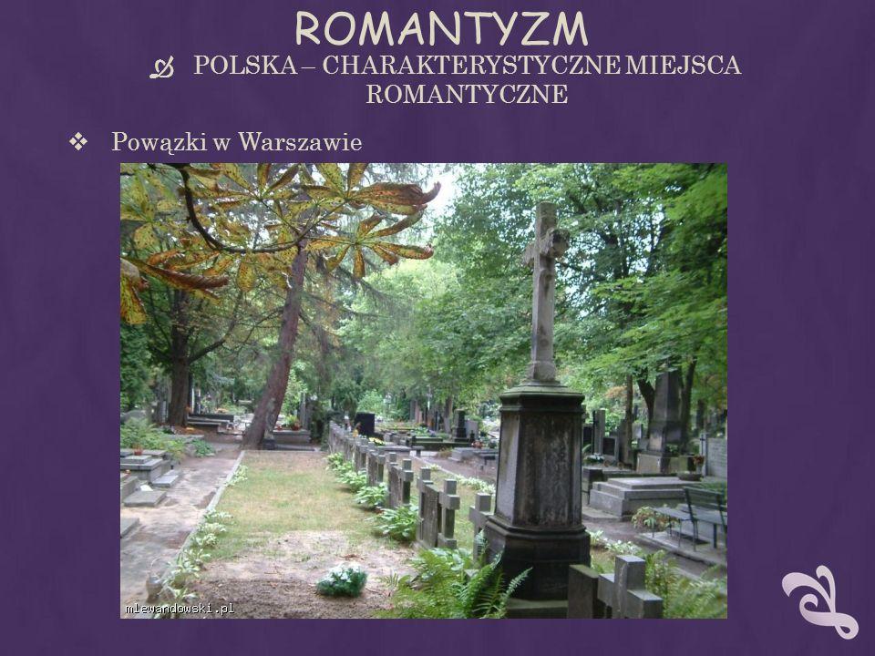 ROMANTYZM POLSKA – CHARAKTERYSTYCZNE MIEJSCA ROMANTYCZNE Powązki w Warszawie