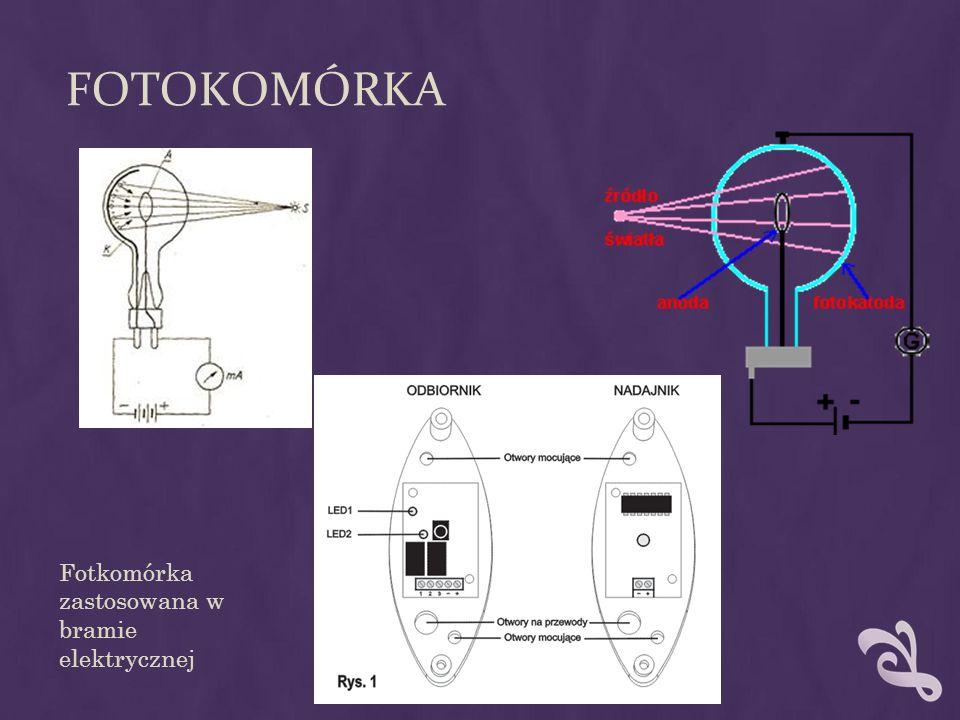 FOTOKOMÓRKA Fotkomórka zastosowana w bramie elektrycznej