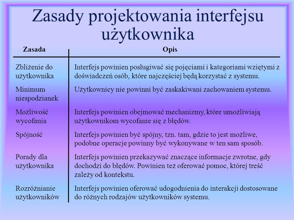 Teksty systemu pomocy l Powinny być przygotowane z udziałem specjalistów w dziedzinie zastosowania.
