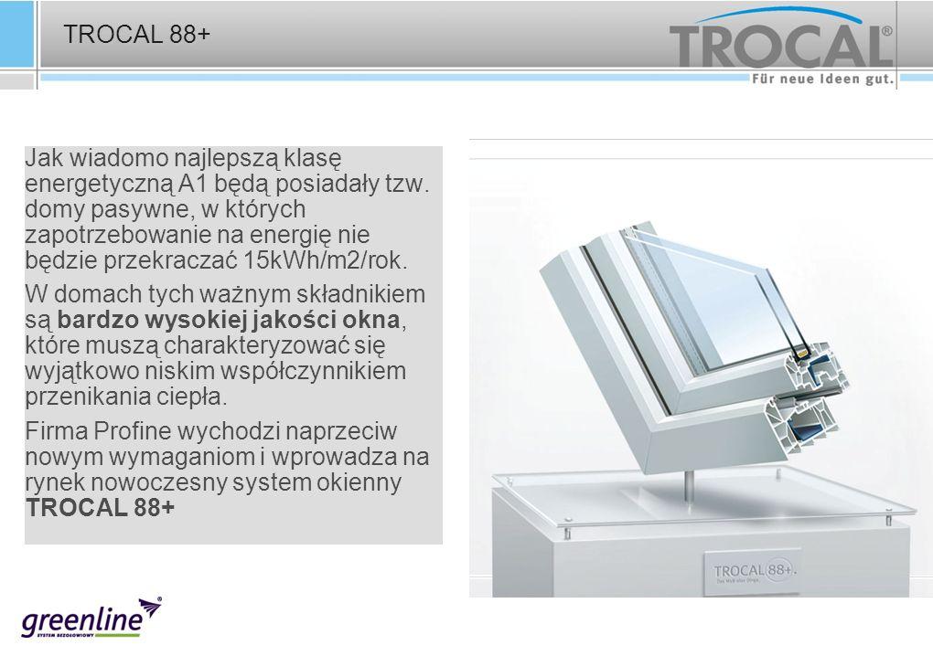 TROCAL 88+ Jak wiadomo najlepszą klasę energetyczną A1 będą posiadały tzw. domy pasywne, w których zapotrzebowanie na energię nie będzie przekraczać 1