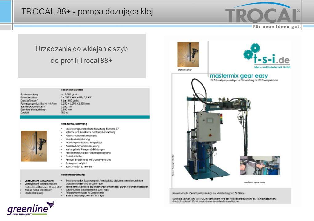TROCAL 88+ - pompa dozująca klej Urządzenie do wklejania szyb do profili Trocal 88+