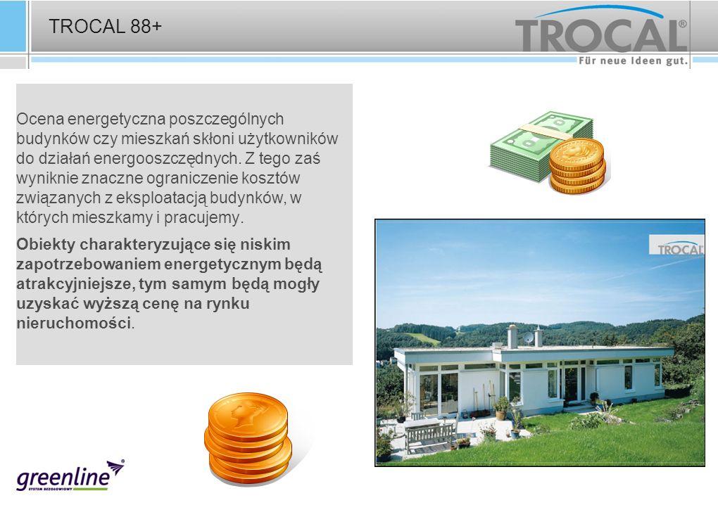 TROCAL 88+ Ocena energetyczna poszczególnych budynków czy mieszkań skłoni użytkowników do działań energooszczędnych. Z tego zaś wyniknie znaczne ogran