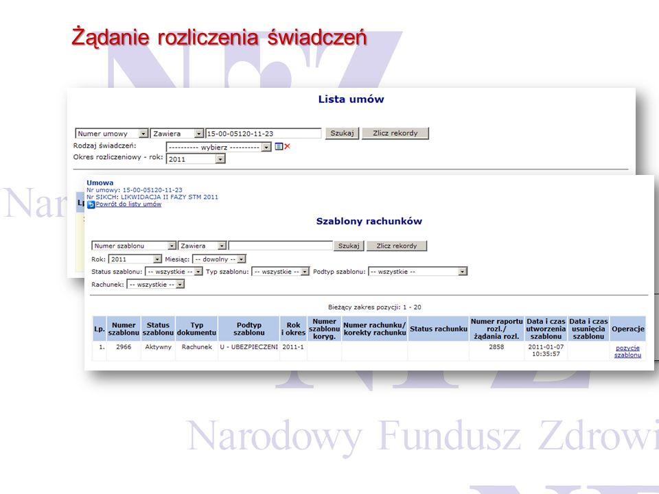 Listę wszystkich wygenerowanych szablonów do załącznika rzeczowo-fiansowego świadczeniodawca może przeglądać z poziomu Listy umów w Portalu SZOI. Info