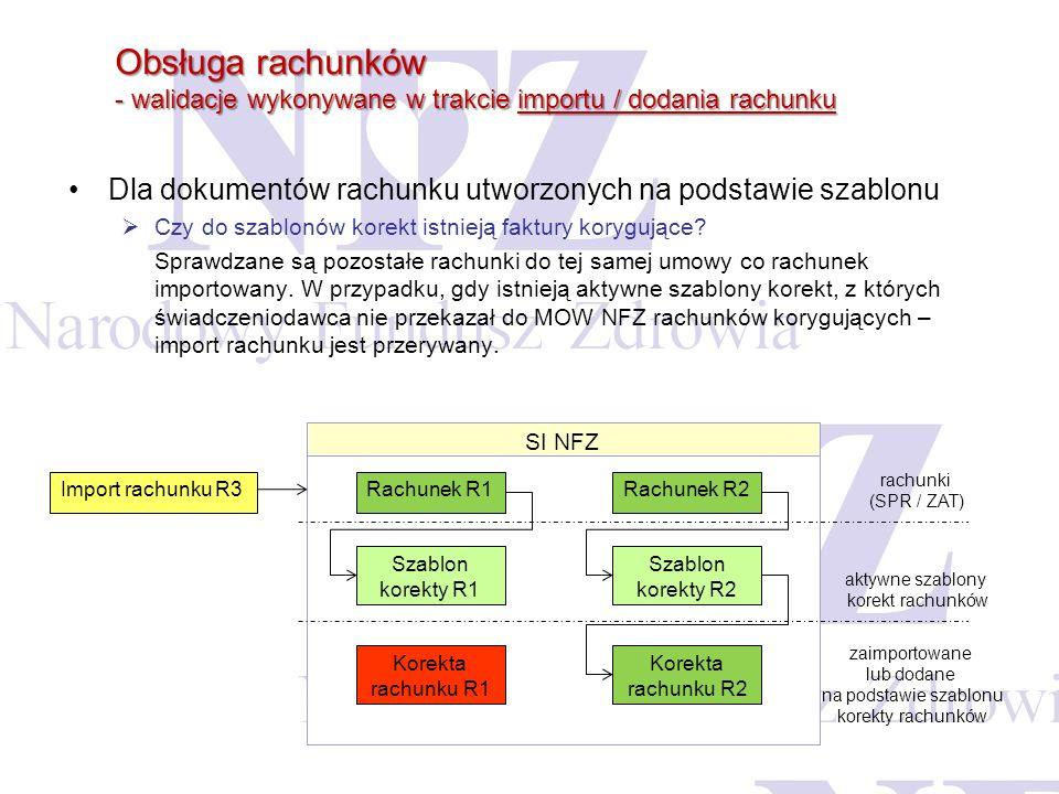 Dla dokumentów rachunku utworzonych na podstawie szablonu Czy do szablonów korekt istnieją faktury korygujące? Sprawdzane są pozostałe rachunki do tej