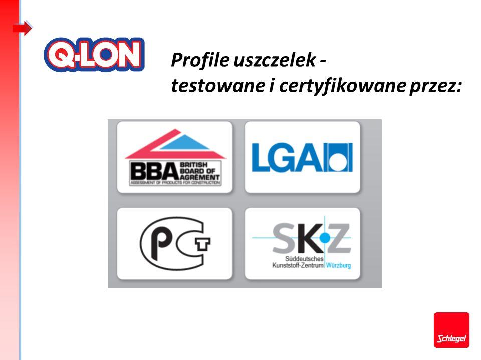 Profile uszczelek - testowane i certyfikowane przez: