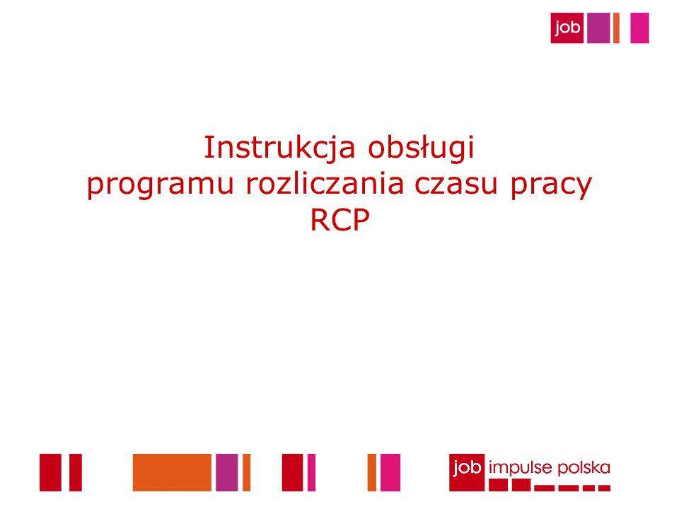12 Zapisywanie danych Po skonwertowaniu danych należy je wczytać bezpośrednio do programu RCP [Zarządzanie RCP-> wczytaj] Wczytaj