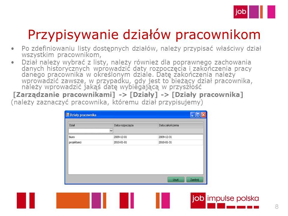 19 Raport czytników W pierwszej kolejności należy zdefiniować symbole i nazwy rejestratorów, które są wykorzystywane i występują w plikach importu zgodnie z poniższym przykładem.