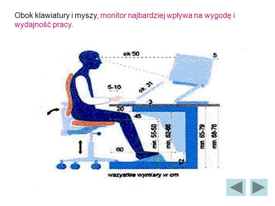 Obok klawiatury i myszy, monitor najbardziej wpływa na wygodę i wydajność pracy.