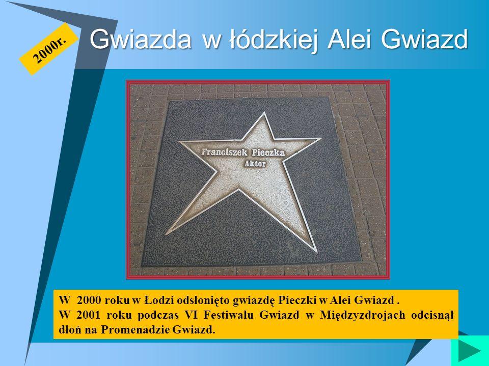 Gwiazda w łódzkiej Alei Gwiazd W 2000 roku w Łodzi odsłonięto gwiazdę Pieczki w Alei Gwiazd. W 2001 roku podczas VI Festiwalu Gwiazd w Międzyzdrojach