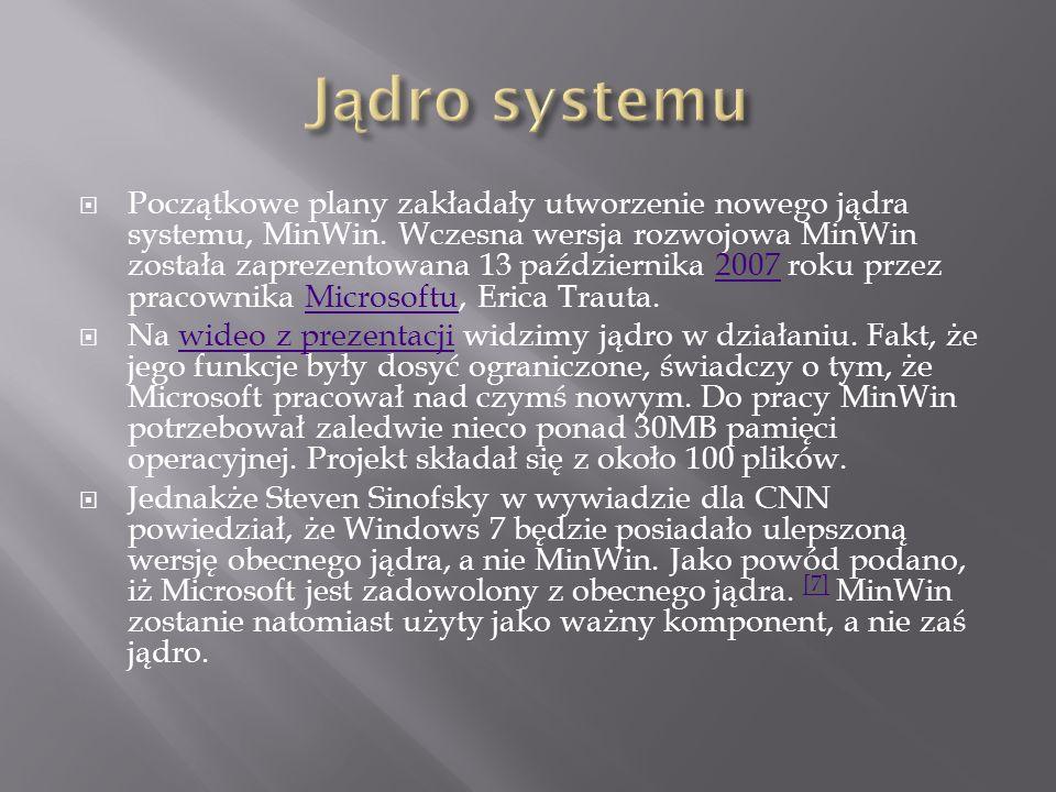 Po informacjach wyciekających z Microsoftu można sądzić, że Windows 7 będzie nie tylko największą w historii rewizją systemu Windows, ale przede wszystkim zupełnym odejściem od sposobu interakcji z komputerem, który znamy z dzisiejszego oprogramowania.
