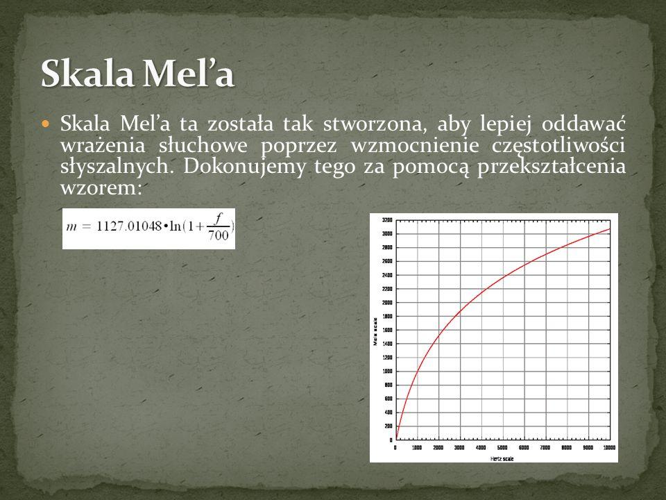 Skala Mela ta została tak stworzona, aby lepiej oddawać wrażenia słuchowe poprzez wzmocnienie częstotliwości słyszalnych. Dokonujemy tego za pomocą pr