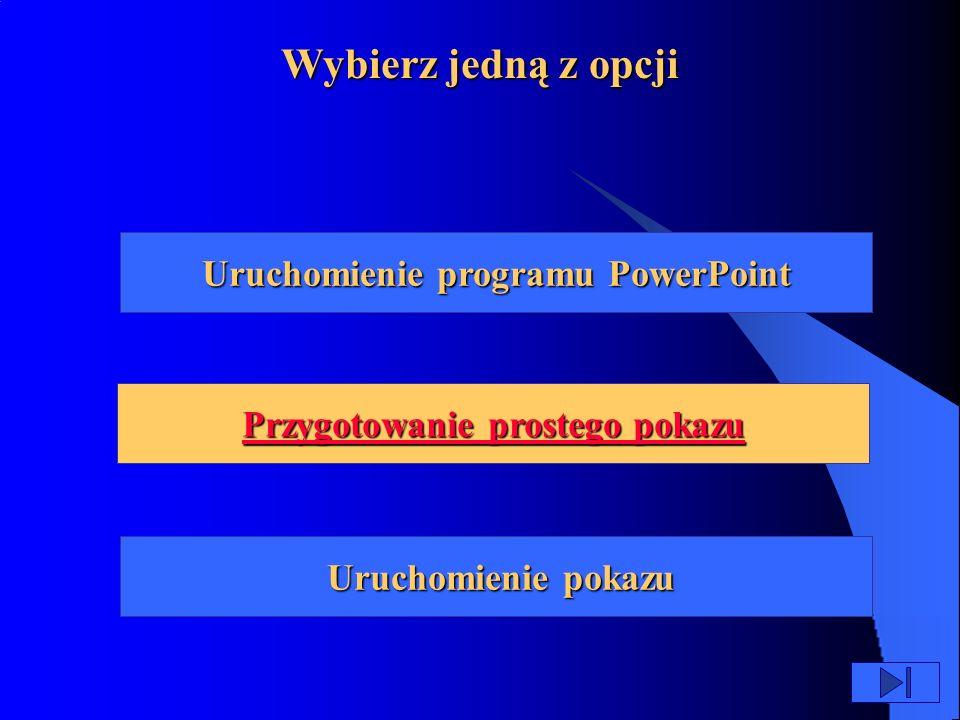 W czasie tej lekcji dowiesz się jak: uruchomić program PowerPoint skorzystać z gotowych podpowiedzi zawartych w programie stworzyć własny pokaz slajdów dodać do pokazu rysunki i dźwięk wyświetlić pokaz na ekranie