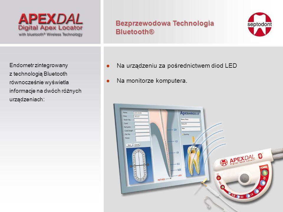 Na urządzeniu za pośrednictwem diod LED Na monitorze komputera. Endometr zintegrowany z technologią Bluetooth równocześnie wyświetla informacje na dwó