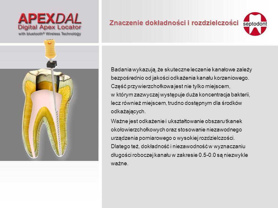Badania wykazują, że skuteczne leczenie kanałowe zależy bezpośrednio od jakości odkażenia kanału korzeniowego. Część przywierzchołkowa jest nie tylko
