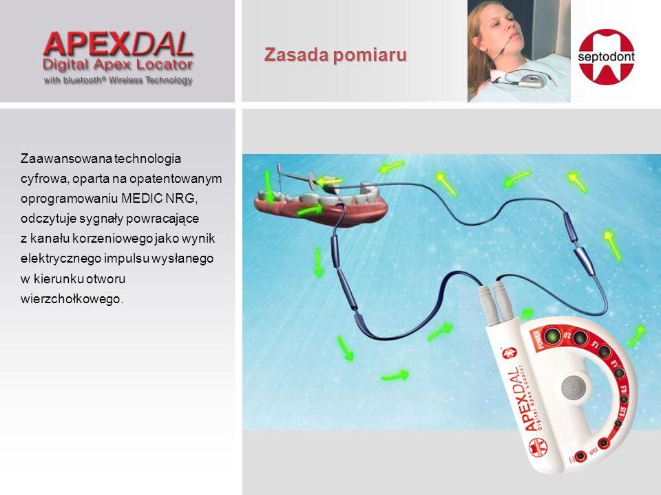 Oprogramowanie endometru ApexDAL z bluetooth oparte jest na dwóch oknach informacyjnych: Oprogramowanie