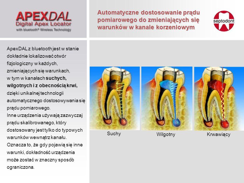 Automatyczna kalibracja Endometr ApexDAL kalibruje się automatycznie, w odróżnieniu od podobnych urządzeń, które okresowo muszą być ręcznie skalibrowane.