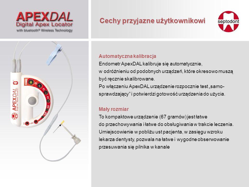 Automatyczna kalibracja Endometr ApexDAL kalibruje się automatycznie, w odróżnieniu od podobnych urządzeń, które okresowo muszą być ręcznie skalibrowa