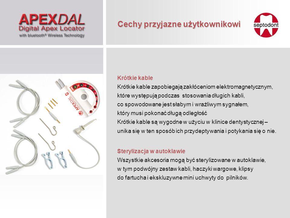 Krótkie kable Krótkie kable zapobiegają zakłóceniom elektromagnetycznym, które występują podczas stosowania długich kabli, co spowodowane jest słabym