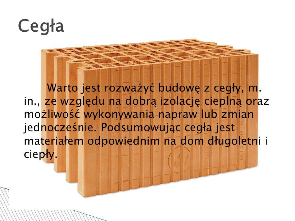 Warto jest rozważyć budowę z cegły, m. in., ze względu na dobrą izolację cieplną oraz możliwość wykonywania napraw lub zmian jednocześnie. Podsumowują