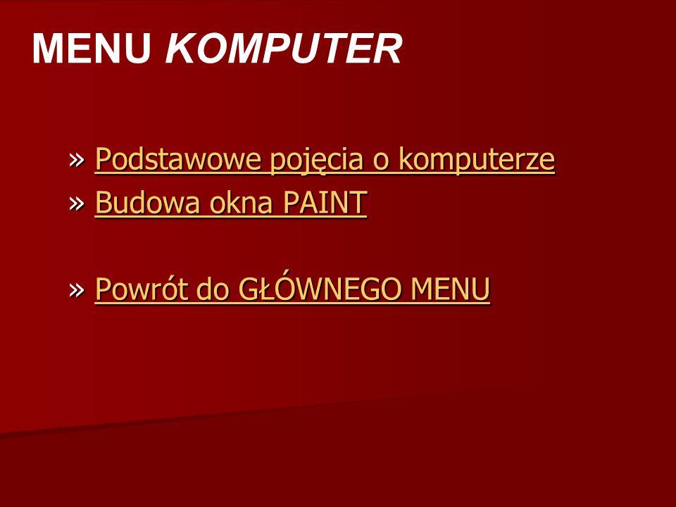 Wykonał: Tomasz Tomczyk Va SPIS TREŚCI KOMPUTER INTERNET BIBLIOGRAFIA QUIZ LINKI Zakończ pokaz