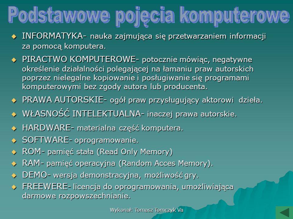 MENU KOMPUTER » Podstawowe pojęcia o komputerze Podstawowe pojęcia o komputerzePodstawowe pojęcia o komputerze » Budowa okna PAINT Budowa okna PAINTBu