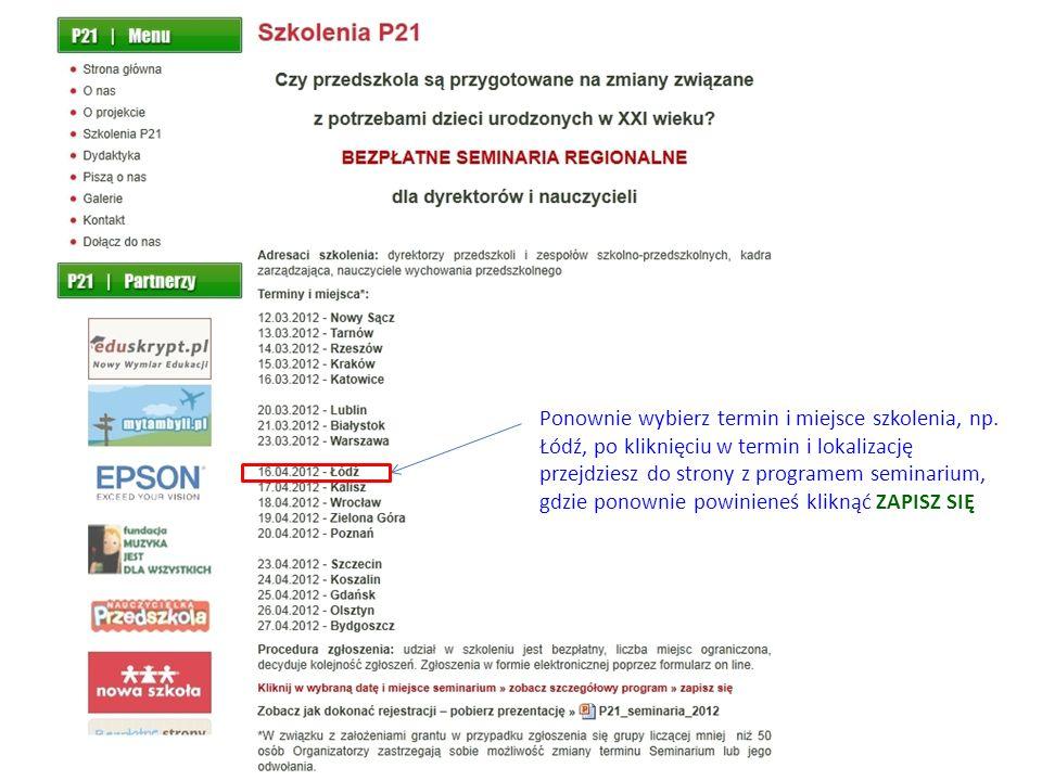 Po prawidłowym wypełnieniu formularza na stronie powinna pojawić się następująca informacja: akol@gm.pl Zapisz się klikając w link.