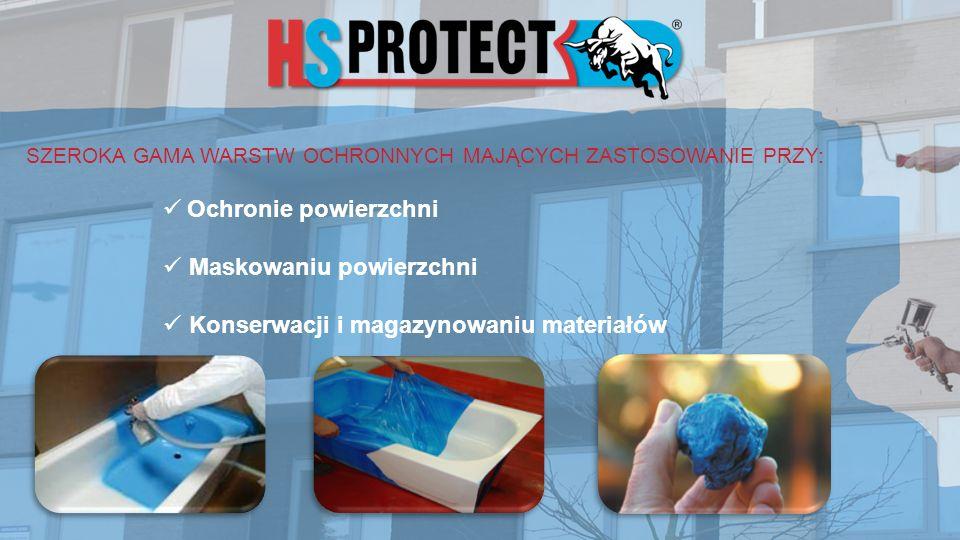 SZEROKA GAMA WARSTW OCHRONNYCH MAJĄCYCH ZASTOSOWANIE PRZY: Ochronie powierzchni Maskowaniu powierzchni Konserwacji i magazynowaniu materiałów