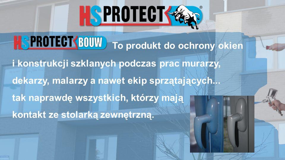 To produkt do ochrony okien i konstrukcji szklanych podczas prac murarzy, dekarzy, malarzy a nawet ekip sprzątających...