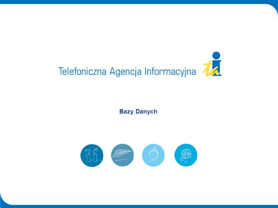 2© Telefoniczna Agencja Informacyjna 2004 Bazy Danych DOBRA BAZA DANYCH TO PODSTAWA W czasach, kiedy dotarcie do Klienta stanowi podstawę działań marketingowych firm właściwe określenie grupy celowej stanowi bardzo ważny element.