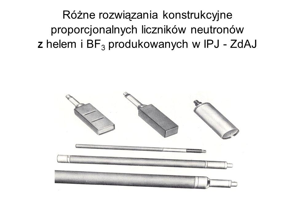 Różne rozwiązania konstrukcyjne proporcjonalnych liczników neutronów Z helem i BF 3 produkowanych w IPJ - ZdAJ