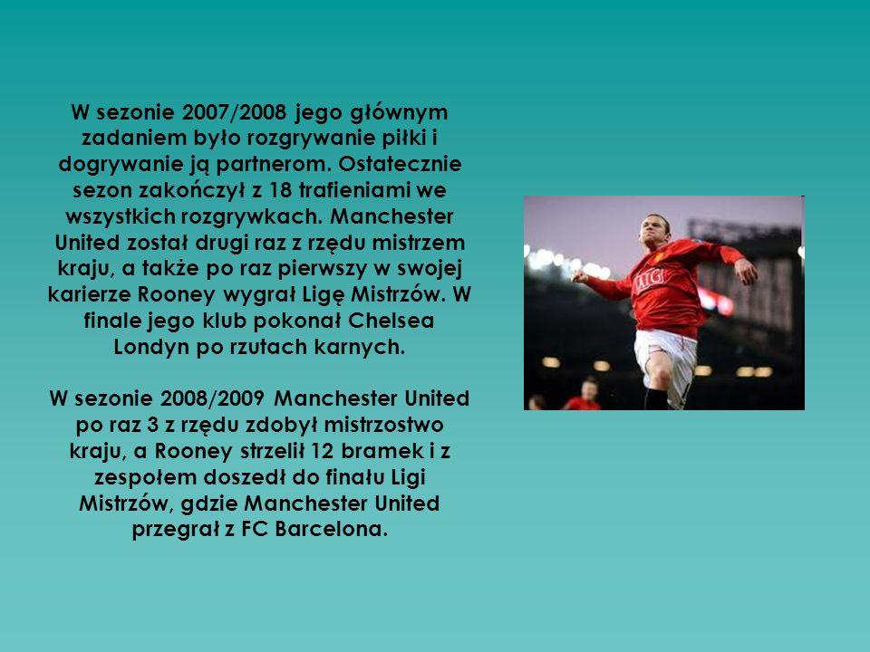W sezonie 2007/2008 jego głównym zadaniem było rozgrywanie piłki i dogrywanie ją partnerom.
