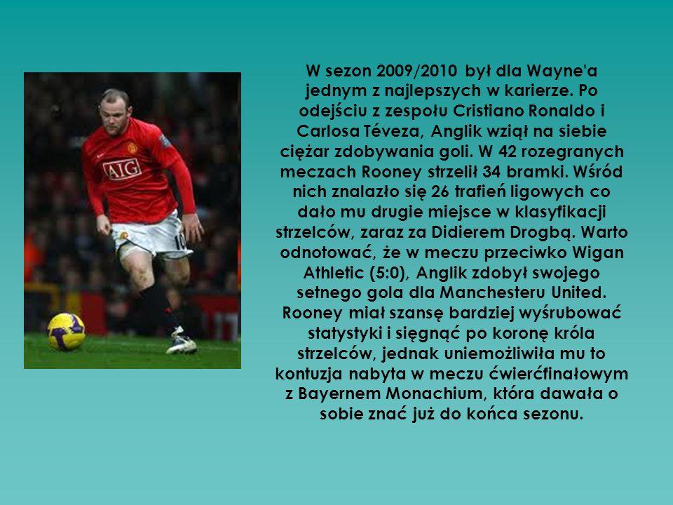 W sezon 2009/2010 był dla Wayne a jednym z najlepszych w karierze.