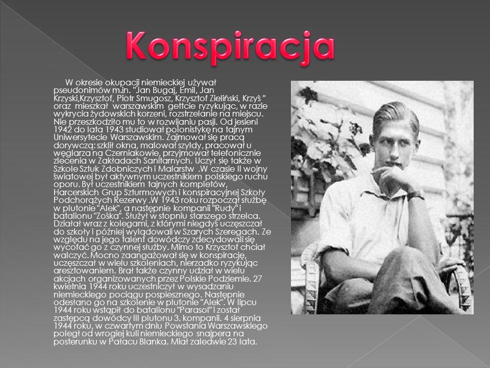 W okresie okupacji niemieckiej używał pseudonimów m.in.