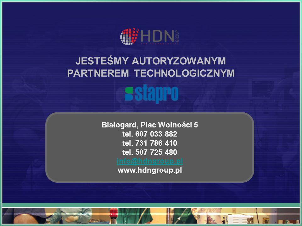 JESTEŚMY AUTORYZOWANYM PARTNEREM TECHNOLOGICZNYM Białogard, Plac Wolności 5 tel. 607 033 882 tel. 731 786 410 tel. 507 725 480 info@hdngroup.pl info@h